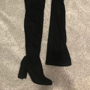 947dbf4265d Lulu s Black Over the Knee Boots